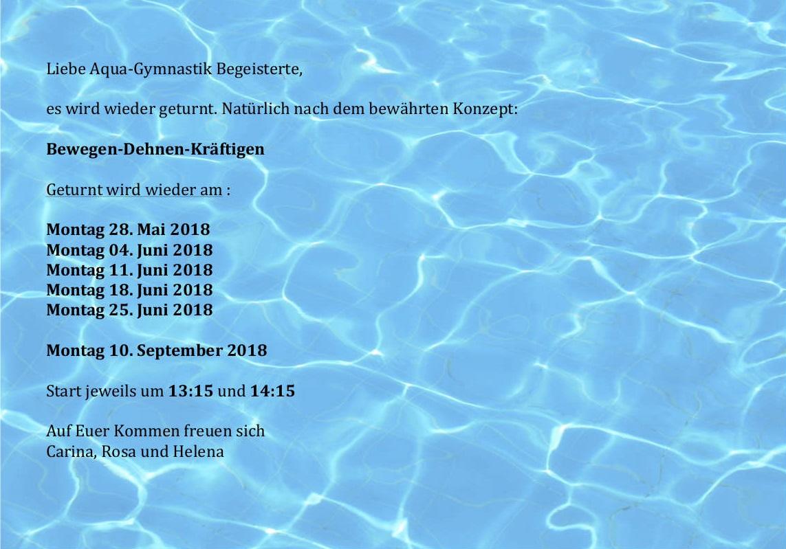 Aquagymnastik_Termine_Sommer